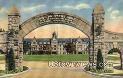 Union Printers Home - Colorado Springs Postcards, Colorado CO Postcard