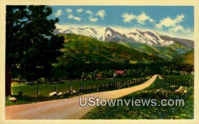 Greenhorn Mountains - Pueblo, Colorado CO Postcard
