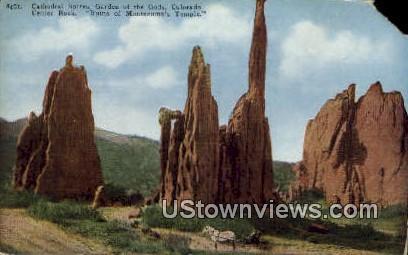 Cathedral Spires - Garden of the Gods, Colorado CO Postcard