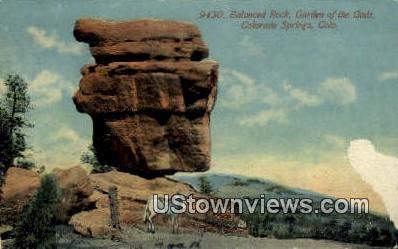 Balanced Rock, Garden of the Gods - Colorado Springs Postcards, Colorado CO Postcard