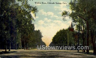Webber Street - Colorado Springs Postcards, Colorado CO Postcard