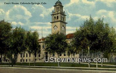 Court House - Colorado Springs Postcards, Colorado CO Postcard