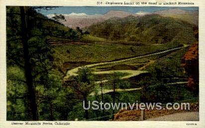 Engineers Lariat, Lookout Mountain - Denver Mountain Parks, Colorado CO Postcard