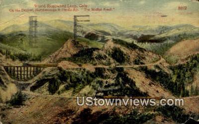 Renowned Loop - Moffat Road, Colorado CO Postcard