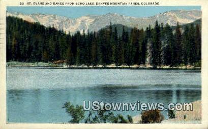 Mt. Evans, Echo Lake - Denver Mountain Parks, Colorado CO Postcard