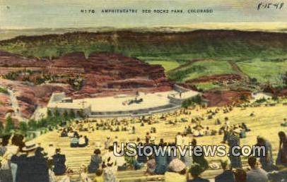 Amphitheatre, Red Rocks - Denver Mountain Parks, Colorado CO Postcard