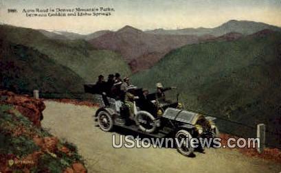 Auto Road, Golden - Denver Mountain Parks, Colorado CO Postcard