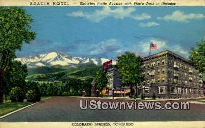 Acacia Hotel - Colorado Springs Postcards, Colorado CO Postcard
