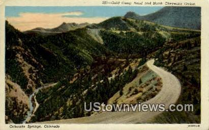 Gold Camp Road - Colorado Springs Postcards, Colorado CO Postcard