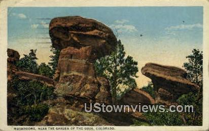 Mushrooms - Garden of the Gods, Colorado CO Postcard