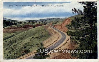 Mount Vernon Canyon - Denver Mountain Parks, Colorado CO Postcard