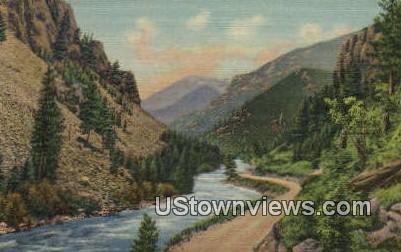 Pines & Cliffs - Colorado Springs Postcards, Colorado CO Postcard