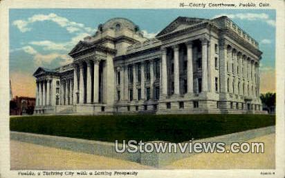County Courthouse - Pueblo, Colorado CO Postcard