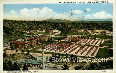 Woodmen of America Sanatorium - Colorado Springs Postcards, Colorado CO Postcard