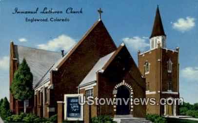Immanuel Lutheran Church - Englewood, Colorado CO Postcard