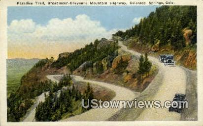 Paradise Trail - Colorado Springs Postcards, Colorado CO Postcard