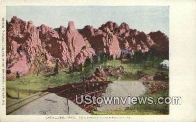 Cathedral Park - Colorado Springs Postcards, Colorado CO Postcard