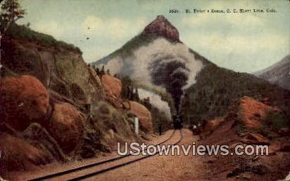St. Peter's Dome - Colorado Springs Postcards, Colorado CO Postcard