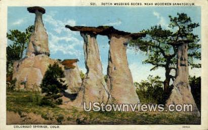 Dutch Wedding Rocks - Colorado Springs Postcards, Colorado CO Postcard