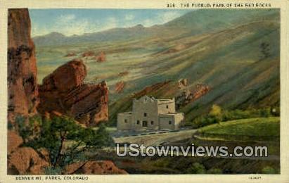 The Pueblo, Red Rocks - Denver Mountain Parks, Colorado CO Postcard