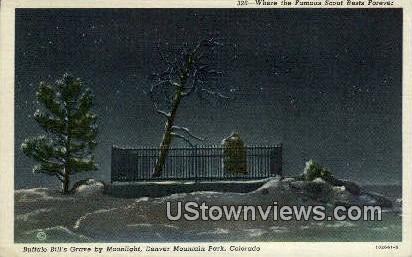 Buffalo Bill's Grave - Denver Mountain Parks, Colorado CO Postcard