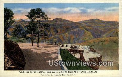 Wild Cat Point - Denver Mountain Parks, Colorado CO Postcard
