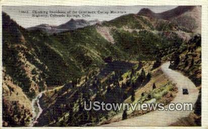 Corley Mountain Highway - Colorado Springs Postcards, Colorado CO Postcard