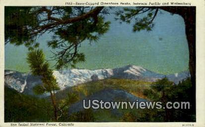 Greenhorn Peaks - Pueblo, Colorado CO Postcard