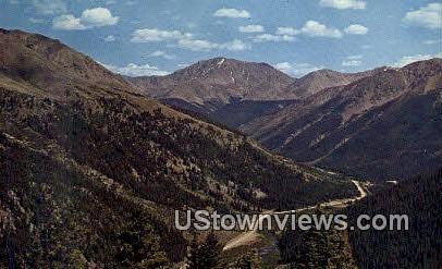 Independence Pass - Buena Vista, Colorado CO Postcard