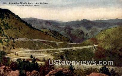 Rounding Windy Point - Denver Mountain Parks, Colorado CO Postcard