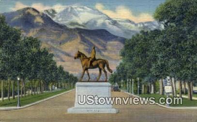 General WM. J. Palmer - Colorado Springs Postcards, Colorado CO Postcard