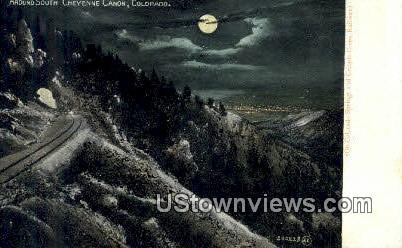 Cheyenne Canon - Colorado Springs Postcards, Colorado CO Postcard