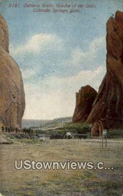 Gateway Rocks - Garden of the Gods, Colorado CO Postcard