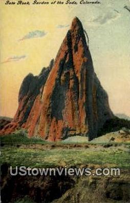 Gate Rock - Garden of the Gods, Colorado CO Postcard