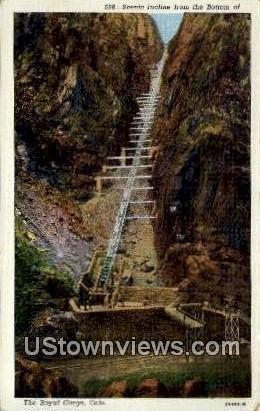 Incline - Royal Gorge, Colorado CO Postcard