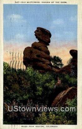 Old Scotchman - Garden of the Gods, Colorado CO Postcard