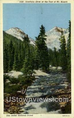 Huerfano River, Mt. Blanca - San Isabel National Forest, Colorado CO Postcard
