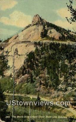 Devil's Slide - Cripple Creek, Colorado CO Postcard