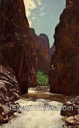 The Narrows - Black Canyon, Colorado CO Postcard