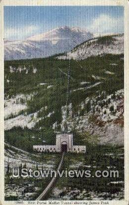 East Portal - Moffat Road, Colorado CO Postcard