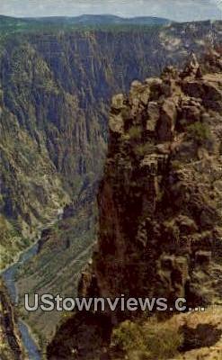 Black Canyon, CO     ;     Black Canyon, Colorado Postcard