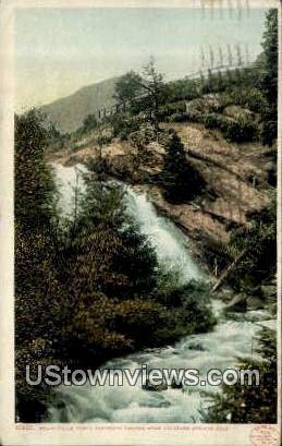 Bruin Falls - Colorado Springs Postcards, Colorado CO Postcard