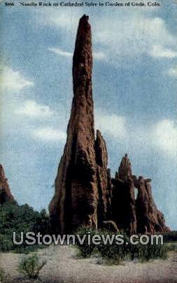 Needle Rock - Garden of the Gods, Colorado CO Postcard