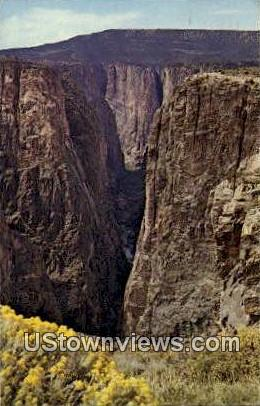 Black Canyon, Colorado     ;     Black Canyon, CO Postcard