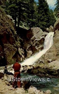Boulder Falls - Boulder Canon, Colorado CO Postcard