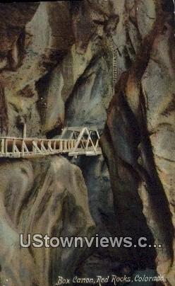 Box Canon, Red Rocks - Denver Mountain Parks, Colorado CO Postcard