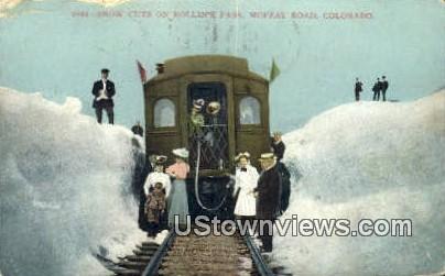 Rollin's Pass - Moffat Road, Colorado CO Postcard