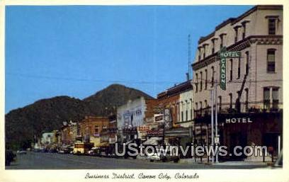 Business District - Canon City, Colorado CO Postcard