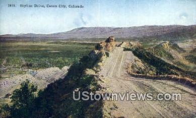 Skyling Drive - Canon City, Colorado CO Postcard