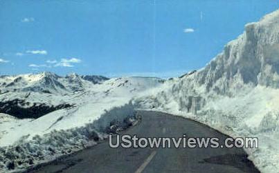 Trail Ridge Road, CO     ;     Trail Ridge Road, Colorado Postcard